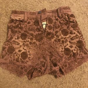 Free people embroidered shorts